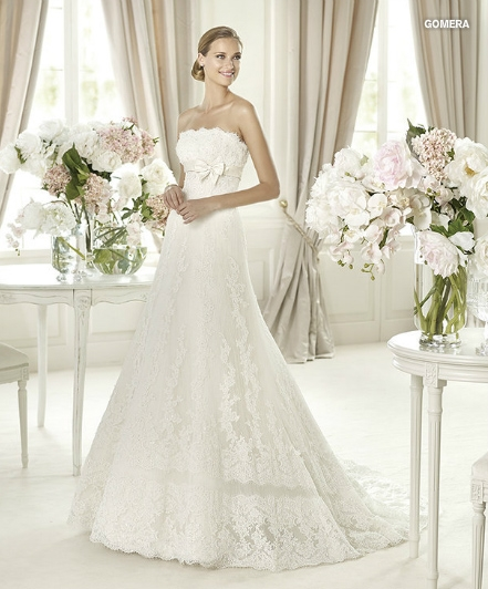 А силуэт свадебные платья фото