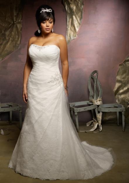 Свадебное платье на полную девушку фото