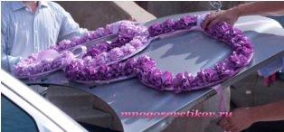 Кольца для свадебных машин своими руками