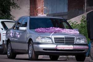 украшение свадебных машин своими рук