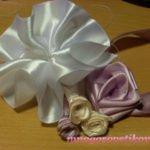 Как делать розы из атласных лент
