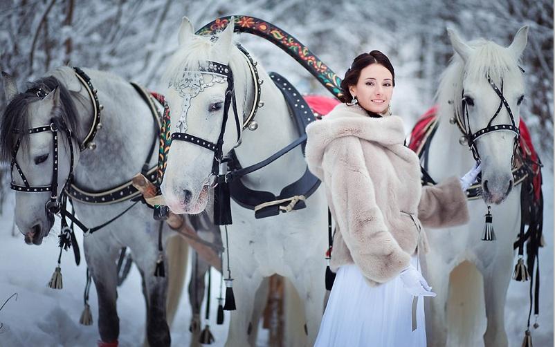 жених и невеста  зимой
